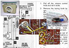 Zenith Royal 800 Vintage Transistor Radio Electrolytic Capacitor Recap Kit