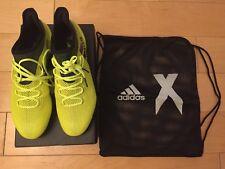 adidas X 17.1 FG Solar Yellow/Black Size 8 Soccer Cleats Free Shipping!