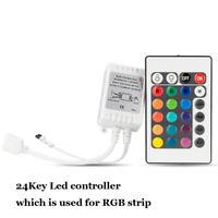 24Key LED IR Controller Fernbedienung DC 12V 6A Für 5050 RGB LED Streifen Licht