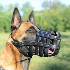 Belgian Malinois Leather Muzzle | Leather Basket Dog Muzzle for Malinois