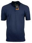 Hugo Boss Men's Polo Shirt Pevario Headphones Print Regular Fit Dark Blue w/Blue