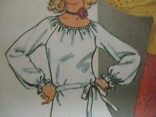 Vtg 70's Simplicity BLOUSE RAGLAN SLEEVES 1/ RUFFLES Sewing Pattern Women UNCUT