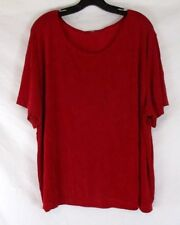 Stretch Shirt Womens Red No Wrinkle Career Fits Sz 2X Travel Short Sleeve CB1X