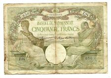 More details for madagascar (p38) 50 francs 1937