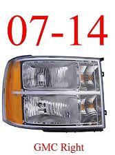 07 13 GMC Right Head Light Assembly, Truck, Denali, 1500, 2500, 3500, GM2503299