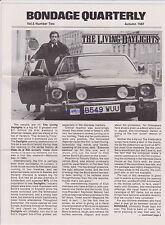 JAMES BOND BONDAGE NEWSLETTER AUTUM 1987 THE LIVING DAYLIGHTS LONDON PREMIERE