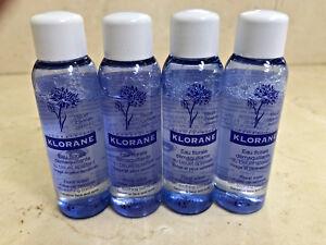 Klorane Floral Water Make-up Remover 3.2oz (4 TRAVEL SIZE BOTTLES x .8oz EACH)