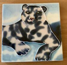 Snow Leopard  Decorative Ceramic Wall Art Tile 4x4 New