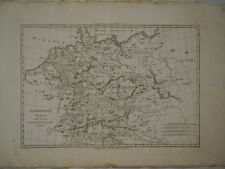 1780 Genuine Antique map of Germany. Germania. Lovely detail. by Rigobert Bonne