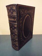 1800's Elephant Folio Bible printed in New York - Self Interpreting Bible
