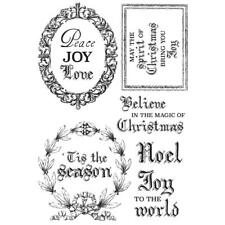 Christmas Santa Collection Clear Unmounted Rubber Stamp Set Kaisercraft CS309