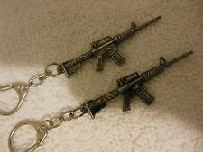 AR 15 -2- Assault - Rifle**Keychain***Lot-of-2**Free  Shipping*