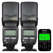 Yongnuo YN685 Wireless Speedlite Flash x 2 + YN-622N TX Controller For Nikon