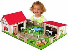 Eichhorn Spielzeug Holz Bauernhof für Schleich Tiere Kühe etc Bauernhof Holzspielzeug
