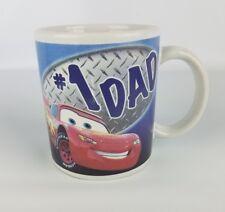 Coffee mug #1 DAD Disney Cars Lightning McQueen ceramic.