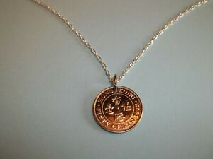 FIFTY (50) CENTS COIN - HONG KONG - SILVER PENDANT NECKLACE - 1972 - 49th YEAR