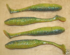 "5"" Swim Minnow Sunfish Laminate Swimbait Trailer for A Rig 50 pack bulk Plastic"