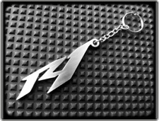 Keyring for YAMAHA YZF R1 - Stainless Steel, Hand Made, Chain Loop Key Fob