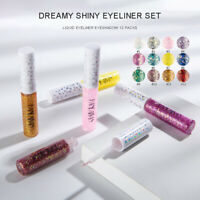 12Colors/Set Eyeshadow Cosmetic Makeup Glitter Eye Shadow Eyeliner Pencil Pen