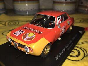88312 FLY STUNNING & RARE ALFA ROMEO GIULIA GTA JAGERMEISTER DRM 72' NEW IN CASE