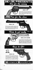 1965 Print Ad of Harrington & Richardson H&R Model 949 939 925 & 999 Revolver