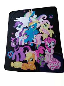My little pony blanket black background story night princess celestia, pinky pie