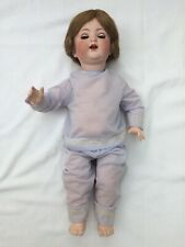 "Antique German Simon & Halbig Bisque Doll 18.5"" Blue SleepEye, lashes, teeth"