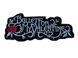Bullet For My Valentine Patch (a) Sew / Iron On Music Festival Embroidered Badge