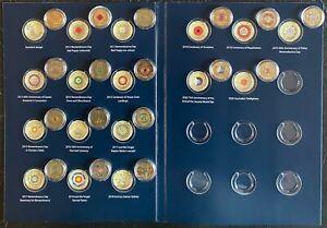 $2 17 coins collection 2012 - 2020 Color RED Poppy & Coronation Queen AUSTRALIA