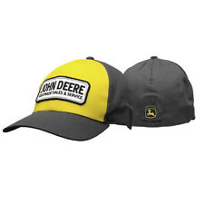John Deere Hat, John Deere Cap, Trucker hat. 13080406   NWT. Grey/ Yellow
