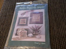 Mill Hill Antique Friendship Sampler Beads Ribbon Fabric Thread New Free Ship