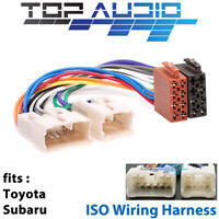 Toyota Corolla ISO wiring harness adaptor cable connector lead loom plug wire