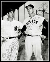 Joe DiMaggio & Ted Williams Photo 8X10 Red Sox Yankees - Buy Any 2 Get 1 Free