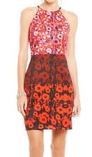 NWT Belle BADGLEY MISCHKA RED BLACK MULTI FLORAL SAILOR DRESS SLEEVELESS SIZE 6