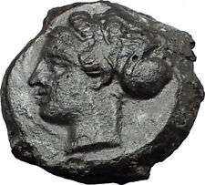 SYRACUSE in SICILY 2nd Democracy 415BC Nymph Dolphin Shell Greek Coin i58747
