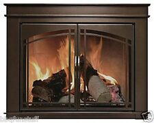 Pleasant Hearth Glass Fireplace Door Fenwick ORB Small FN-5700 Mesh Screen