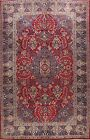 Vintage Floral Najafabad Hand-knotted RED Area Rug Wool Oriental Carpet 9'x13'