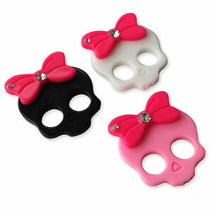 Diamante Bow Skull Resin Flatback Cabochons Embellishments Charms Funky Craft.