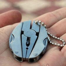 Pocket Multi Function Tools Tiny Foldaway Keychain Pliers Knife Screwdriver