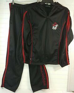 UGA Georgia Bulldogs Holloway Warm Up Athlete Track Suit Womens Jacket L Pants S