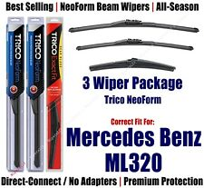 3-Pack Wipers Front/Rear NeoForm 2007-2009 Mercedes-Benz ML320 - 162813/2113/12J