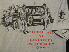 Al Capone Vtg 1994 Gray T-Shirt Sz XL There Are No Gangsters In Chicago 1929 Car