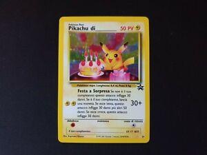 Pokemon Italian Birthday Pikachu Black Star Promo 24 Near Mint - Pikachu di ____