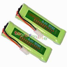 2x 8.4V NiMH 3800mAh Super Power Rechargeable Battery Pack Car Tamiya Plug