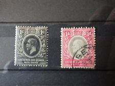 2x Timbres EAST AFRICA AND UGANDA  Unused & Used 1903-1912 *