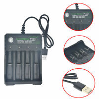 4 Slot 3.7V Intelligent USB Rechargeable Li-ion Battery Charger for 14500 18650