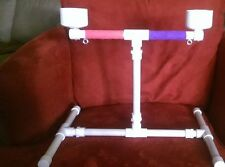 "NEW 1/2"" PVC Parrot Training Perch Play Gym - Table Top Stand"