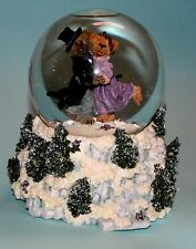 "Boyds ""Amanda & Michael"" music box winter water globe #270509, Nib dancing waltz"