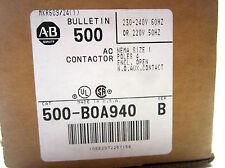 New Allen Bradley 500-BOA940 AC Contactor Ser. B 500BOA940