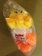 Luvs Big Bird Plush Rattle Sesame Street New in sealed bag Free Shipping
